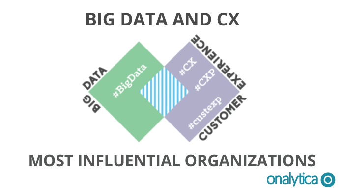 Onalytica - Big Data and CX Most influential organisations