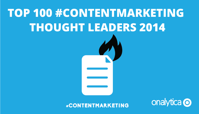 Onalytica - Top 100 Content Marketing Thought Leaders