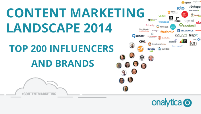 Onalytica - Content Marketing 2014 Top 100 Influencers and Brands