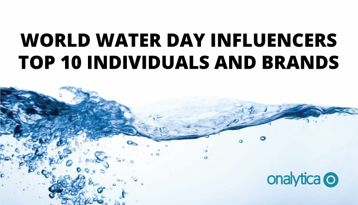Onalytica - World Water Day Top Influencers and brands