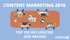 Content Marketing 2016: Top 100 Influencers and Brands