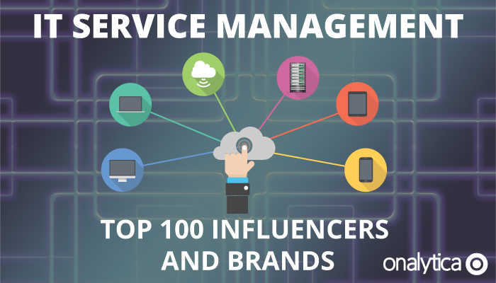 Onalytica - IT Service management TOp 100 Influencers and Brands