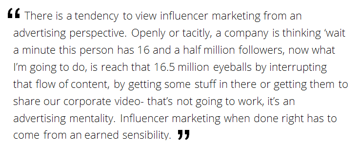 influencer marketing as advertising