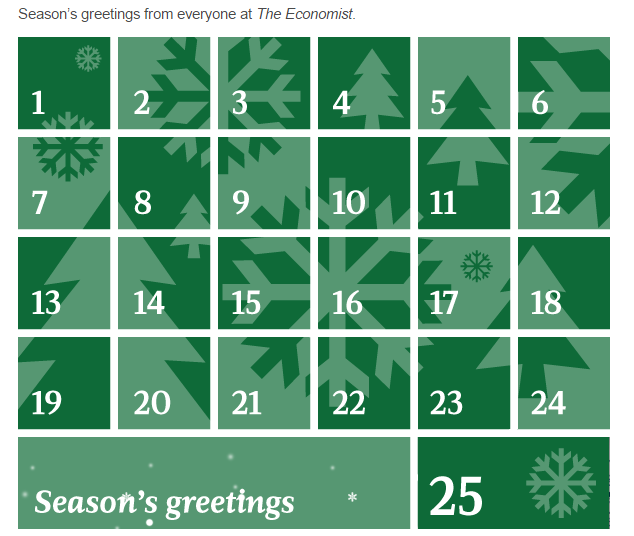the economist advent calendar
