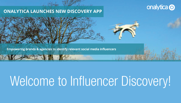 Onalytica - Welcome to Influencer Discovery