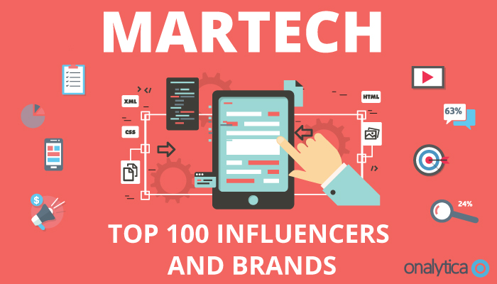 Onalytica MarTech Top 100 Influencers and Brands