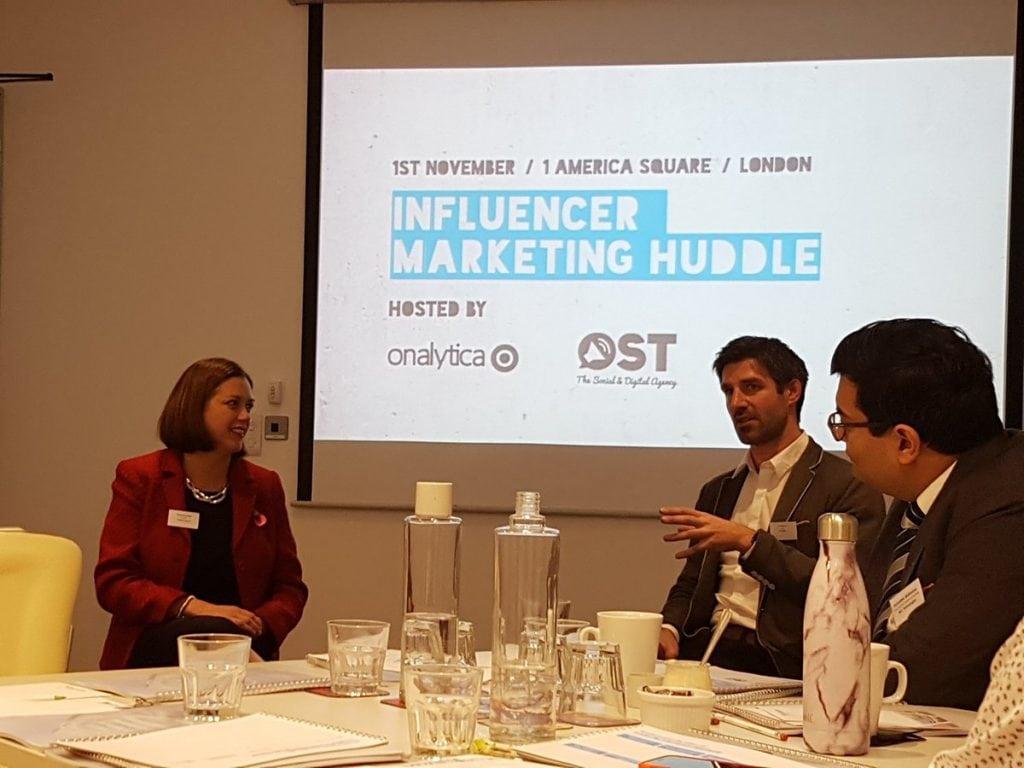 Onalytica Influencer Marketing huddle November 2017