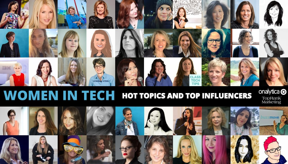 Onalytica Women In Tech Hot Topics and Top Influencers