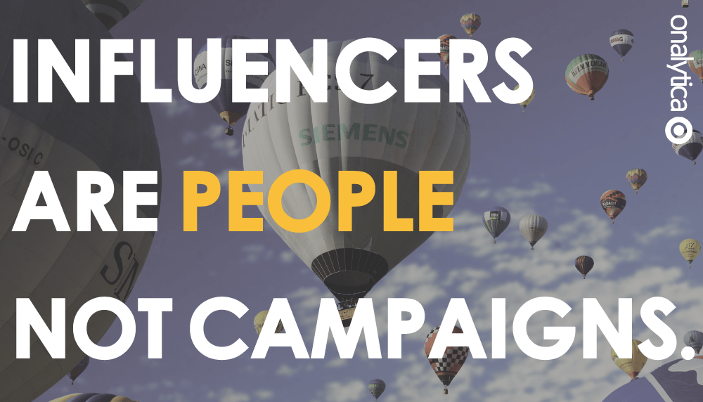 Onalytica Influencers are people not campaigns-header