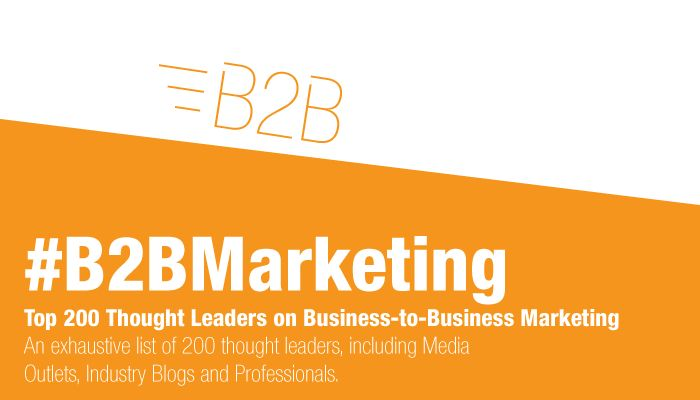 Onalytica - B2B Marketing Top 200 Thought Leaders