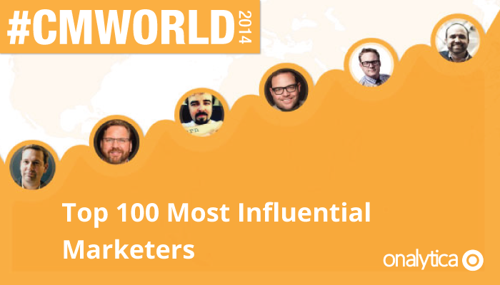Onalytica - CM World 2014 Top 100 Influential Marketers