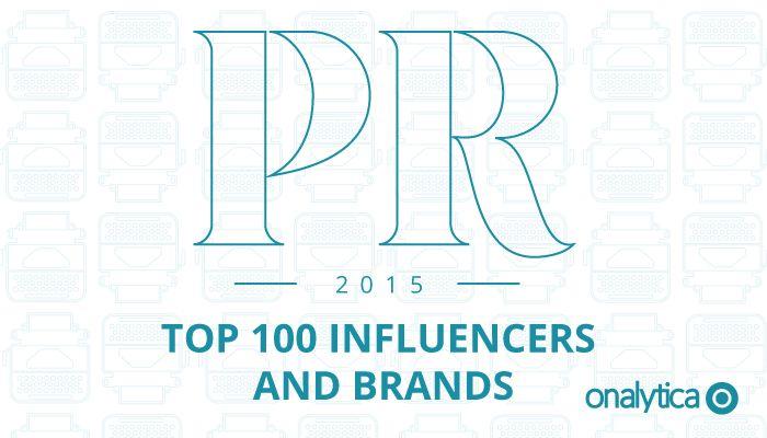 Onalytica - PR Top 100 Influencers and Brands