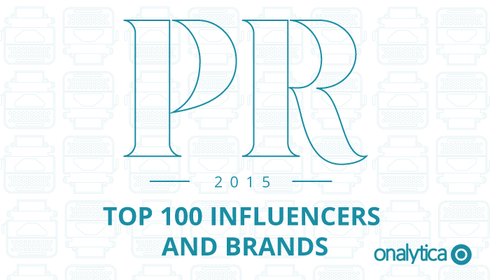 Onalytica - PR Top 100 Influencers and Brands