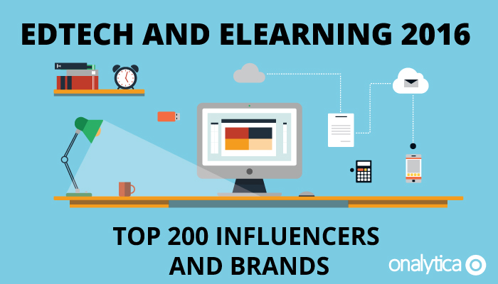 Onalytica - Edtech and Elearning top 200 Influencers and Brands