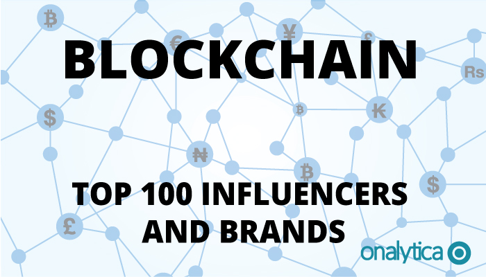 Onalytica Blockchain Top 100 Influencers and Brands