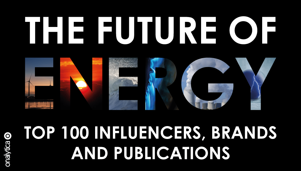 Onalytica Future of Energy Top 100 influencers, brands and publications