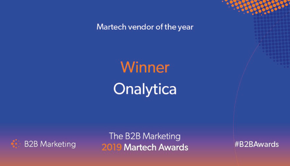 Onalytica MarTech Vendor of the Year
